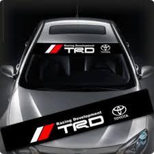 Trd Windows Windshield Car Sticker Decal Fd0009 135x22cm For Toyota Car Stickers Car Sticker Design Car Stickers Funny