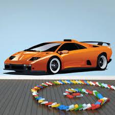 Orange Lamborghini Car Wall Decal Sticker Ws 41170 Ebay