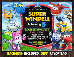 Super Wings Invitation Super Wings Birthday Party Invitation