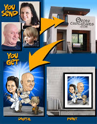 caricatures from photos personalized