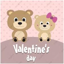 بطاقة عيد الحب مع دبدوب عيد الحب عيد الحب خلفيات Png والمتجهات
