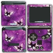 Amazon Com Purple Butterflies Beautiful Art Design Video Game Vinyl Decal Skin Sticker Cover For Nintendo Gba Sp Gameboy Advance Vinyl Decals Purple Butterfly