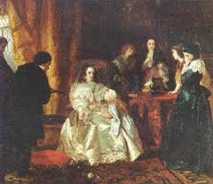 The despair of Henrietta Maria over the death of her husband King Charles I  by Henrietta May Ada Ward on artnet
