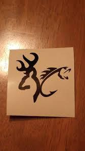 Deer Fish Hunting Fishing Decal Permanent Vinyl Perfect Etsy Fishing Decals Deer Decal Hunting Tattoos