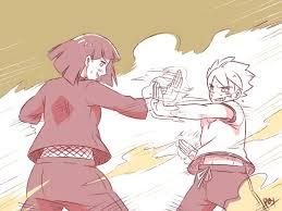 Stated in the canon novel that Hinata trains Boruto the basics at ...