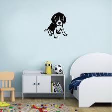 17 Off 2020 Dsu Labrador Silhouette Wall Sticker Cute Cartoon Pet Dog Vinyl Wall Decal For Kids Bedroom In Black Dresslily