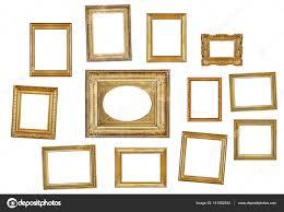 many gilded frames stock photo