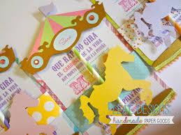 Carousel Invitation Decoracion De Fiestas Infantiles Carrusel Y
