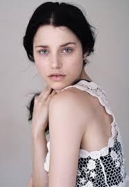 Jeannine Smith blue eyes, pale, pale skin, cute   Dark hair pale ...
