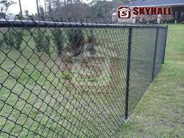 Pvc Coated Chain Link Fence Panels Skyhall Fence