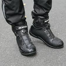 scoyco motorcycle boots leather super