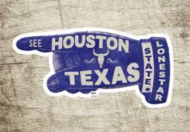 Houston Texas Vintage Travel Sticker Decal 3 7 8 Lonestar Laptop Bumper Ebay