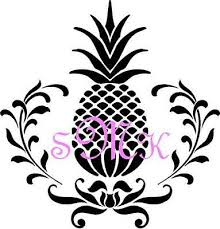 Removable Vinyl Wall Art Pineapple With Initials Decor Sticker Mural Decal Home Garden Children S Bedroom Words Phrases Decals Stickers Vinyl Art