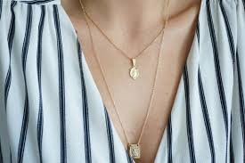our lady gold coin necklace 18k gold