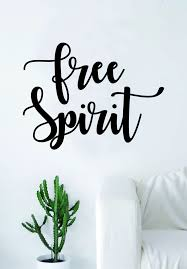 Free Spirit V2 Quote Wall Decal Sticker Room Art Vinyl Home Decor Insp Boop Decals