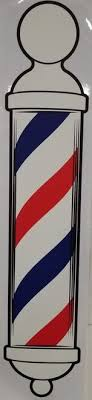 Barber Pole Decal Large Retro Atlanta Barber And Beauty Supply