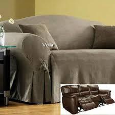 reclining sofa slipcover grey suede