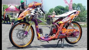 74 modifikasi motor drag race mio