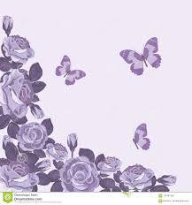 Plantilla Floral De La Tarjeta Con Las Rosas Y Las Mariposas
