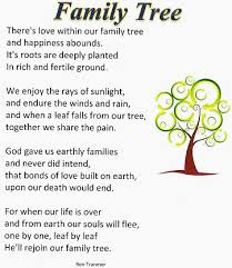 family tree genealogy poem family tree quotes family