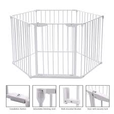 Petsjoy 6 Panels Baby Safety Gate Click Image For More Details It Is An Affiliate Link To Amazon In 2020 Baby Safety Gate Safety Gate Pet Fence