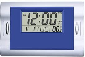 Vmarketingsite Digital Wall Clocks Blue Silent Desk Clock Battery Operated Large Lcd Kids Alarm Clock W Countdown Countup Timer Indoor Temperature Date For Office Kitchen Bedroom Bathroom