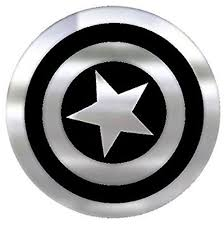 Captain America Shield Chrome Colored Decal Chr41524