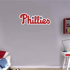 Amazon Com Skyhighprint Philadelphia Phillies Mlb Baseball Logo Sport Wall Decor Print Sticker 25 X 9 Kitchen Dining