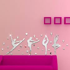 Mirrow Sticker Dance Wall Decal Personalized Ballerina With Name Teen Girls Room Vinyl Wall Sticker Buy At A Low Prices On Joom E Commerce Platform