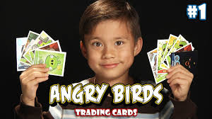 Angry Birds TRADING CARDS & STICKERS Review by EvanTubeHD (PART 1 ...