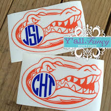 Monogram Gators Car Decal Y All Fancy By Yallfancyboutique 6 00 Florida Gators Football Gator Nation Uf Gators