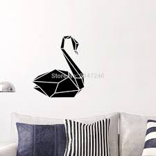 Geometric Swan Wall Decal Animal Decorative Vinyl Art Mural Sticker For Living Room Bedroom Decor Wall Stickers Aliexpress