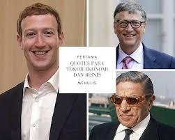 quotes para tokoh ekonomi dan bisnis pertama menulis