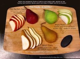 making homemade pear baby food