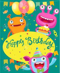Monster Diseno Tarjeta De La Invitacion Del Partido Ilustracion