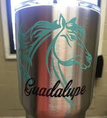 Personalized Horse Western Cup Decals For Yeti And Rtic Cups Cup Decal Yeti Cup Designs Yeti Cup Monogram