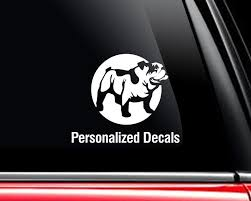 Bulldogs Vinyl Window Decals Make A Decal Online W Decal Etsy Vinyl Window Decals Custom Cars Car Decals Vinyl