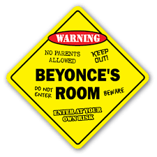Beyonce S Room 3 Pack Of Vinyl Decal Stickers 4 X 4 Indoor Outdoor Funny Decoration For Laptop Car Garage Bedroom Offices Signmission Walmart Com Walmart Com