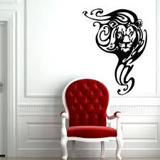 Wall Decal Lion Animal Mane Head Force 35x55 Inch Size M329 Ebay