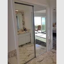 frameless beveled mirror closet doors