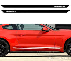 2020 Car Styling Racing Side Stripes Vinyl Decal Graphic Stickers For Ford Mustang 2015 2016 2017 Accessories From Ldyou1990 44 Dhgate Com