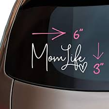 Amazon Com Mom Life Car Decal Pink Mint Green Or White Cute Sticker For Women 6 Size For Laptop Or Window White Kitchen Dining