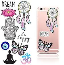 Idecoz Dream Reusable Vinyl Decal Sticker Sheet For All Cell Phones Cases Iphone 8 8 Plus X 7 7 Plus 6 6 Iphone Phone Cases Iphone Cases Phone