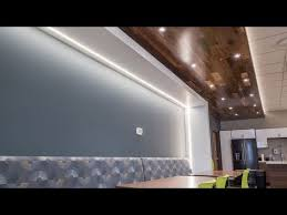 channel and led strip lights in drywall