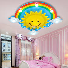 Rainbow Sun Clouds Led Kids Room Ceiling Light Cartoon Bedroom Light Creative Cute Men Girl Room Lamp Smiling Face Lamp Lu721174 Room Ceiling Lights Kids Room Ceiling Lightsgirls Room Lighting Aliexpress