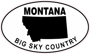 Stickertalk Oval Montana Big Sky Country Vinyl Sticker 7 75 Inches X 4 75 Inches Stickertalk