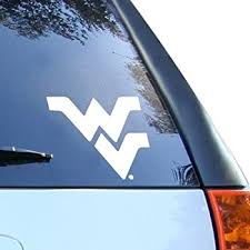 Amazon Com West Virginia Mountaineers Wv Logo 4 Vinyl Decal Car Truck Window Sticker Everything Else