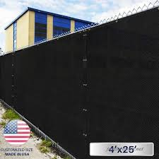 4 X 25 Privacy Fence Screen In Black With Brass Grommet 85 Blockage Windscreen Outdoor