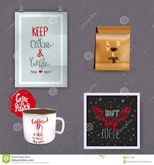 set of vintage coffee quote mock up designs coffee quote logo