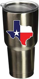 Amazon Com Boldergraphx 5094 Texas State Vinyl Sticker Decal 3 X2 8 For Yeti Mug Cup Rtic Sic Cup Thermos Cup Or Laptop Cell Phone Wrap Or Hardhat Automotive